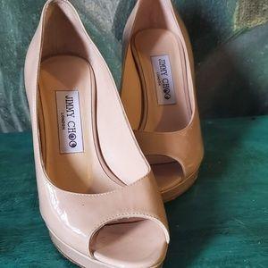 MISMATCHED Jimmy Choo Patent Peeptoe Heels! 36/37